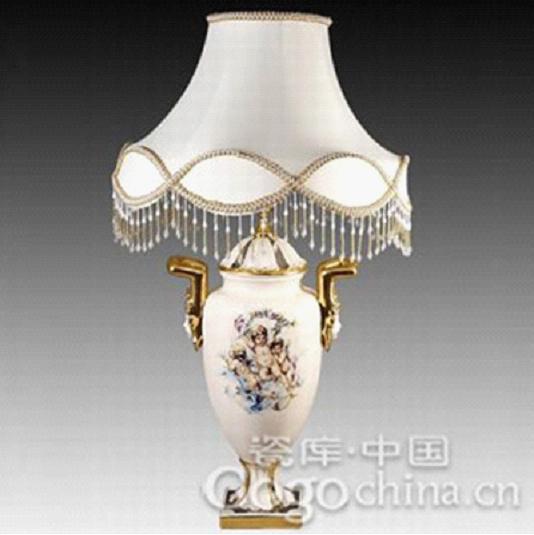 出口瓷天使有耳经典欧式陶瓷台灯