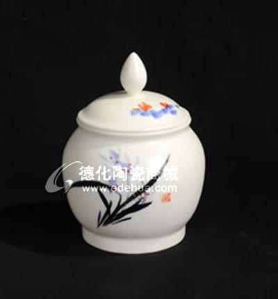 手绘兰花茶叶罐