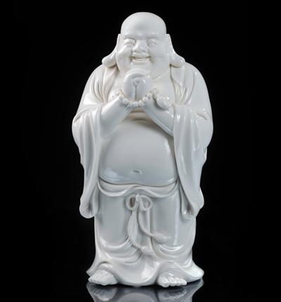 恭喜发财 德化白瓷大肚弥勒佛人物雕像家居办公招财工艺摆件