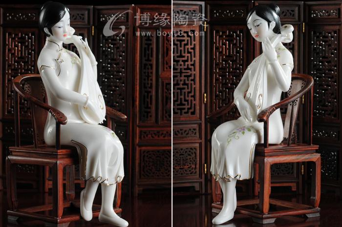 古代手绘美女图片乐器
