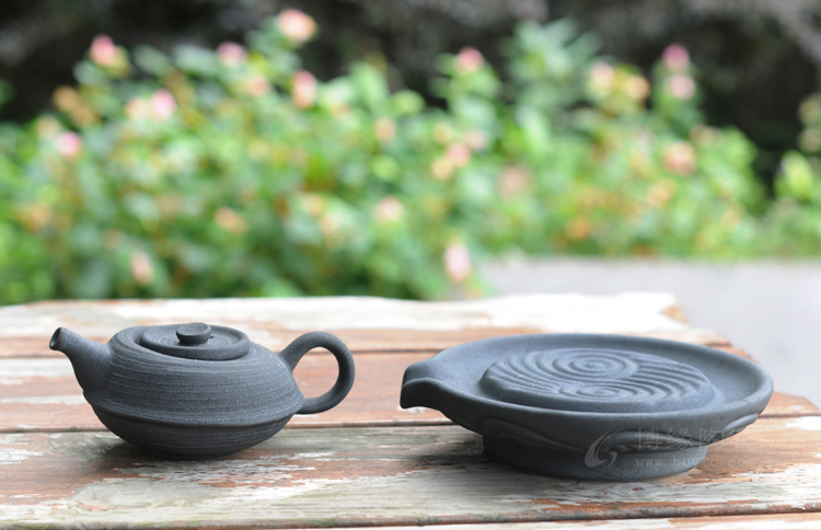 德化陶瓷大师手造铁锈釉茶壶 功夫茶具